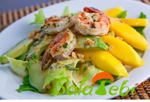 krevetebis da mangos salata