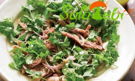 Ham and parsley salad